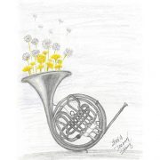 French Horn and Dandelions