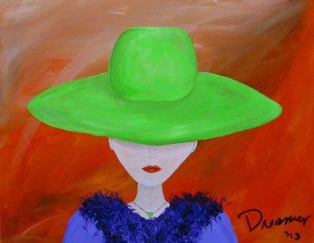 Feminine Artwork with Big Hat