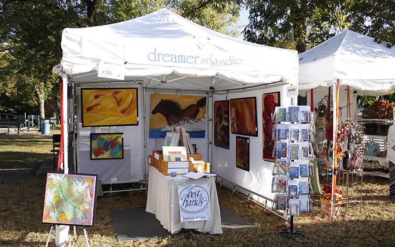 New art festival display dreamer art studio for Used craft fair tents