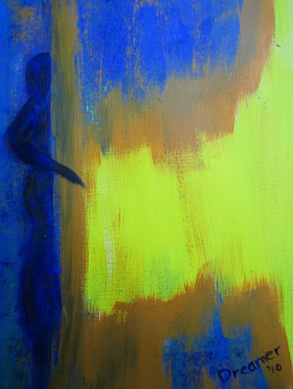 Abstract Acrylic Painting on Paper