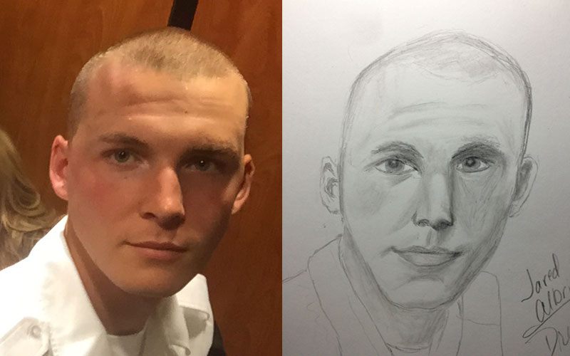 Sketch of Army Soldier